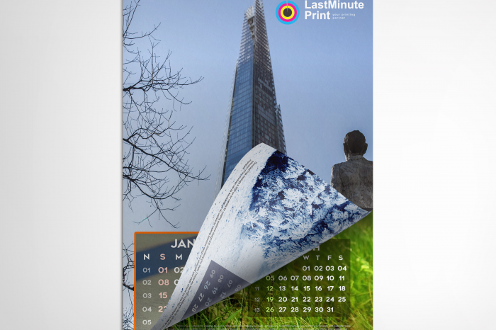 calendars, last minute print, same day print, print in london, promotional material